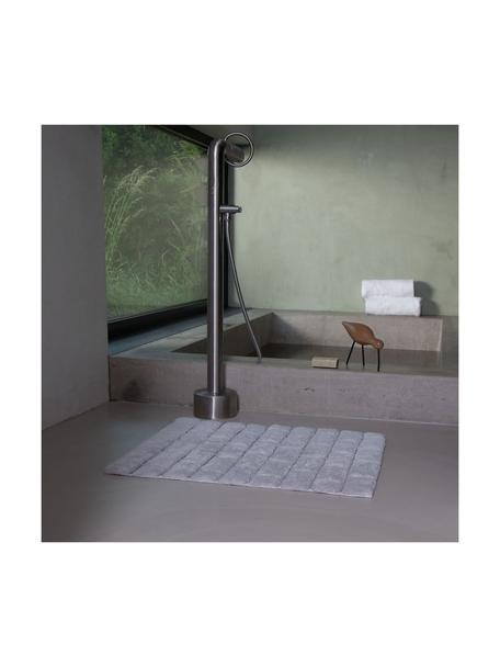 Alfombrilla de baño Board, Algodón Gramaje superior, 1900g/m², Gris claro, An 50 x L 60 cm