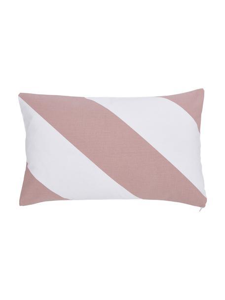 Poszewka na poduszkę Ren, 100% bawełna, Biały, brudny różowy, S 30 x D 50 cm