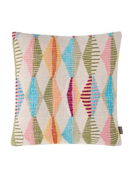 Federa arredo fantasia colorata Ipanema, Retro: 97% poliestere, 3% poliam, Beige, multicolore, Larg. 40 x Lung. 40 cm
