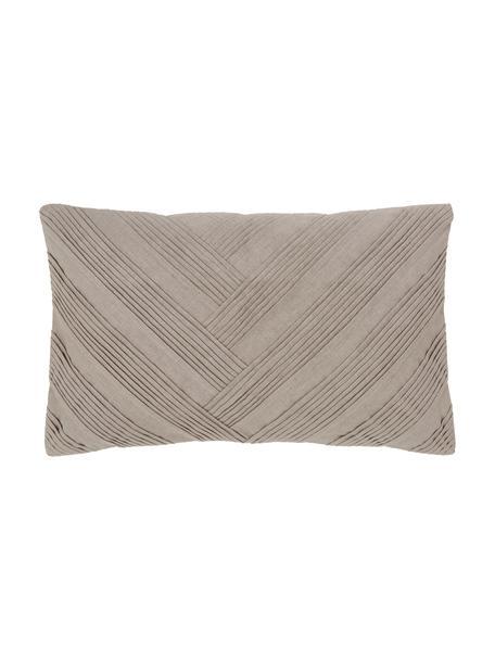 Poszewka na poduszkę Maya, 55% len, 45% bawełna, Beżowy, S 30 x D 50 cm