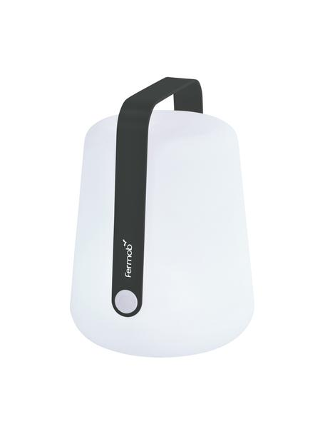 Mobile Dimmbare Außentischlampe Balad, Lampenschirm: Polyethylen, Griff: Aluminium, lackiert, Weiß, Anthrazit, Ø 19 x H 25 cm