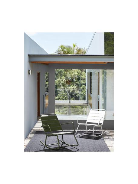 Sedia a dondolo da giardino Lillian, Acciaio verniciato a polvere, Bianco, Larg. 63 x Alt. 74 cm