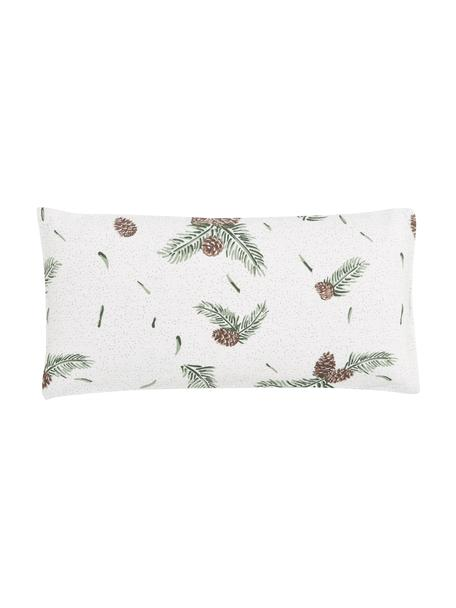 Poszewka na poduszkę z flaneli Pinecone, 2 szt., Biały, zielony, S 40 x D 80 cm