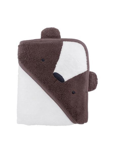 Ręcznik z kapturem Bär, Bawełna, Brązowy, biały, S 85 x D 85 cm