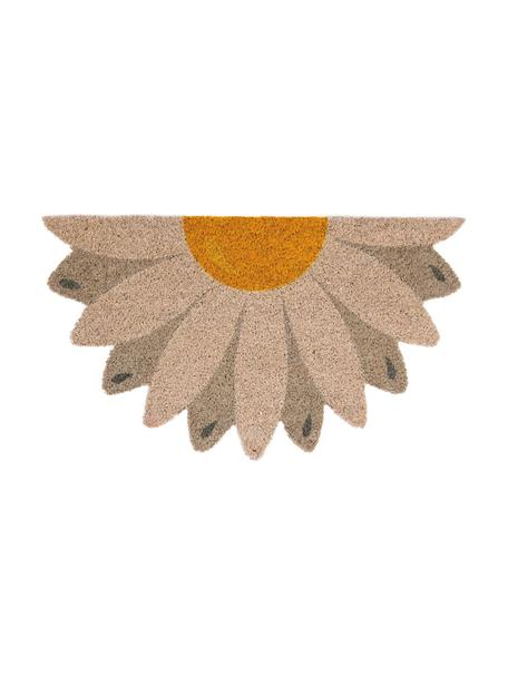 Zerbino in cocco Daisy, Beige, taupe, giallo, Larg. 40 x Lung. 70 cm