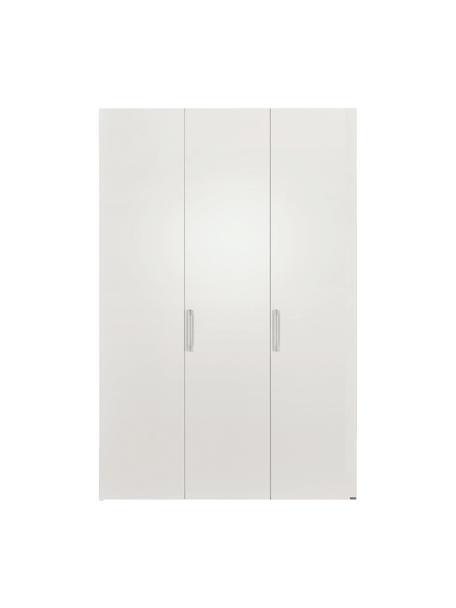 Kleiderschrank Madison in Weiß, 3-türig, Korpus: Holzwerkstoffplatten, lac, Ohne Spiegeltür, 152 x 230 cm