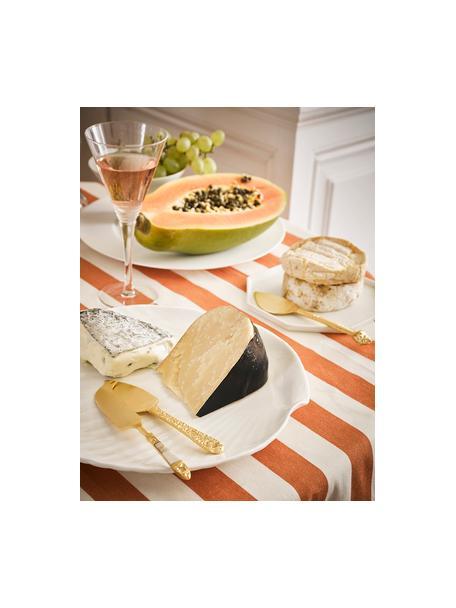 Goudkleurige kaasmessenset Cheese uit edelstaal, 3-delig, Mes: edelstaal, vermessingd, Decoratie: parelmoer, Messingkleurig, Set met verschillende formaten