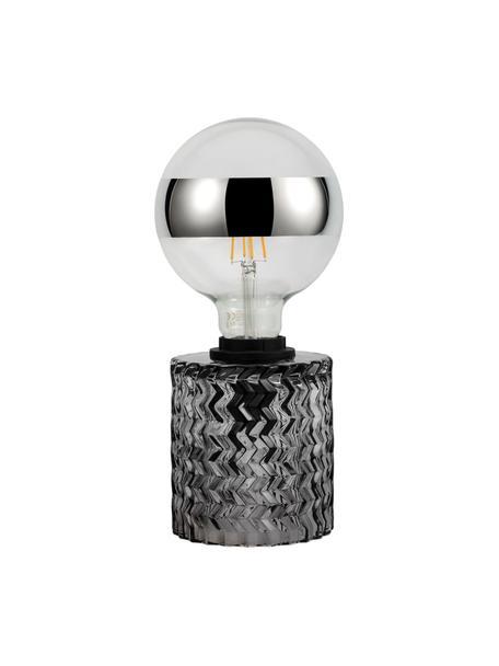 Lampada da comodino Crystal Smoke, Base della lampada: vetro, Grigio, Ø 11 x Alt. 13 cm