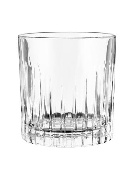 Kristallen glazen Timeless met groefreliëf, 6 stuks, Luxion kristalglas, Transparant, Ø 9 x H 9 cm