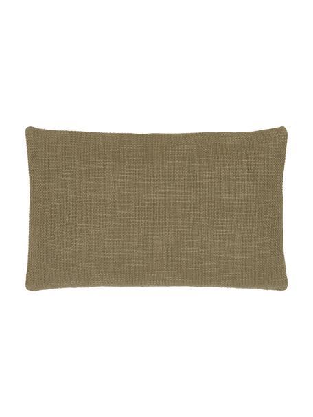 Kissenhülle Anise in Olivgrün, 100% Baumwolle, Grün, 30 x 50 cm