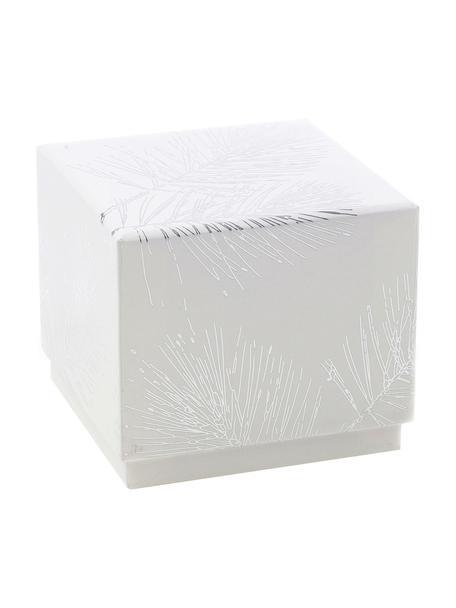 Pudełko prezentowe Ferice, Papier pakowy, Biały, odcienie srebrnego, S 10 x W 9 cm