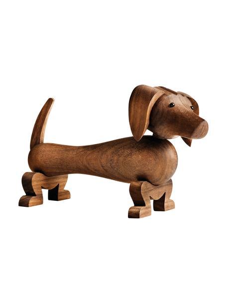 Figura decorativa de diseño Dog, Madera de nogal barnizada, Nogal, An 18 x Al 11 cm