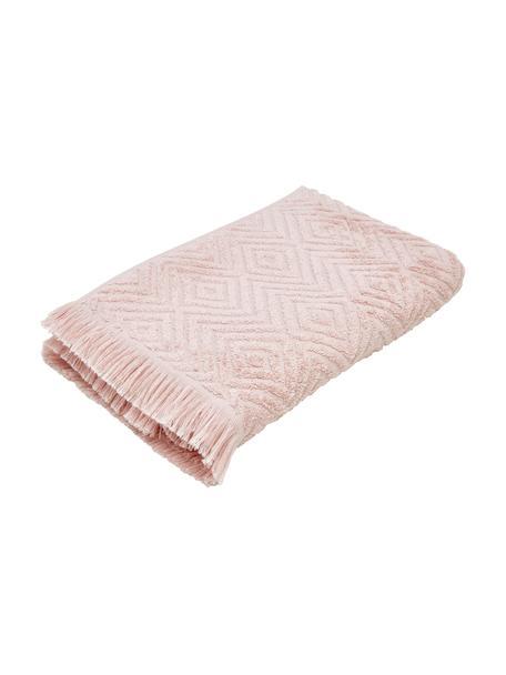 Handtuch Jacqui in verschiedenen Größen, mit Hoch-Tief-Muster, Rosa, Gästehandtuch
