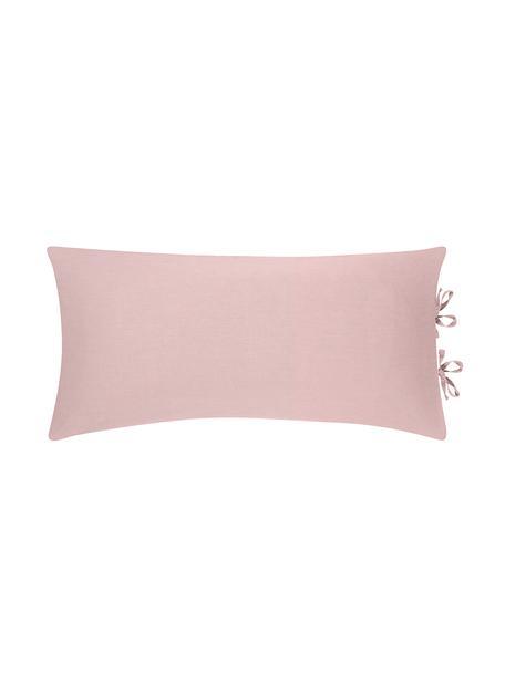 Poszewka na poduszkę z lnu Indica, 2 szt., 52% len, 48% bawełna Z efektem sprania, Brudny różowy, S 40 x D 80 cm