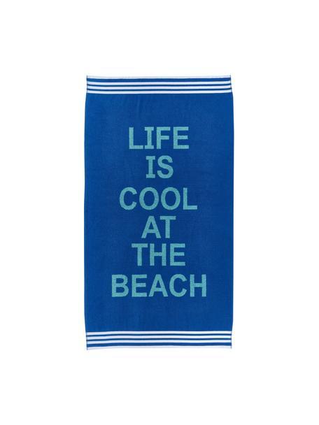 Ręcznik plażowy Cool, 100% bawełna, Odcienie niebieskiego, S 90 cm x D 160 cm