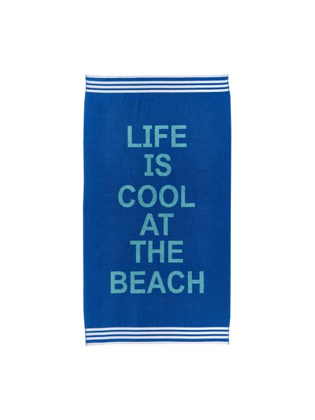 Toalla de playa Cool, 100%algodón, Tonos azules, An 90 cm x L 160 cm