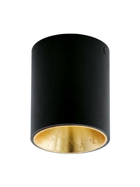 Faretto da soffitto a LED con finitura antica Marty, Nero, dorato, Ø 10 x Alt. 12 cm