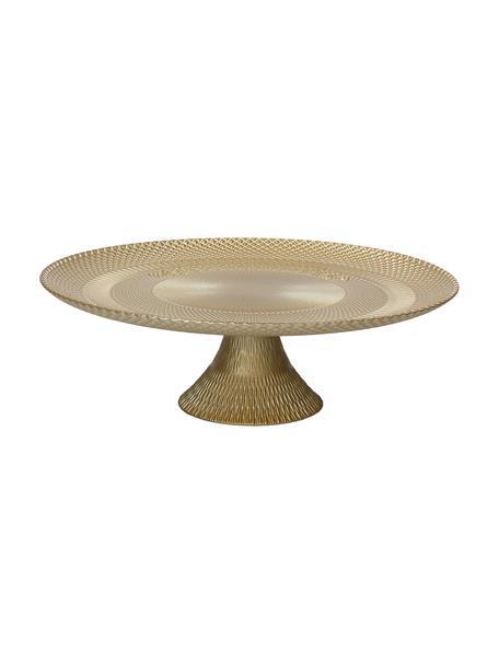 Goudkleurige taartplateau Natalie Ø 28 cm van glas, Glas, Goudkleurig, Ø 28 x H 9 cm