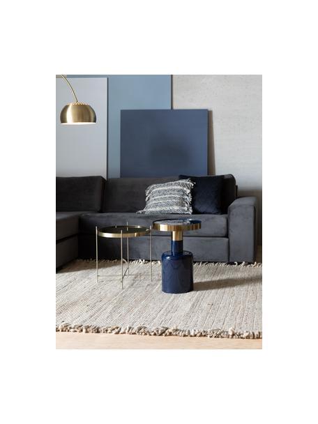 Tappeto in lana beige/gialla con frange Frills, Retro: cotone Nel caso dei tappe, Beige, giallo, Larg. 170 x Lung. 240 cm