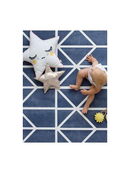 Tappeto da gioco Nordic 18 pz, Schiuma (EVAC), priva di sostanze inquinanti, Blu, crema, Larg. 120 x Lung. 180 cm