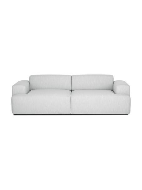 Sofa Melva (3-Sitzer) in Hellgrau, Bezug: Polyester Der hochwertige, Gestell: Massives Kiefernholz, Spa, Webstoff Hellgrau, B 240 x T 101 cm