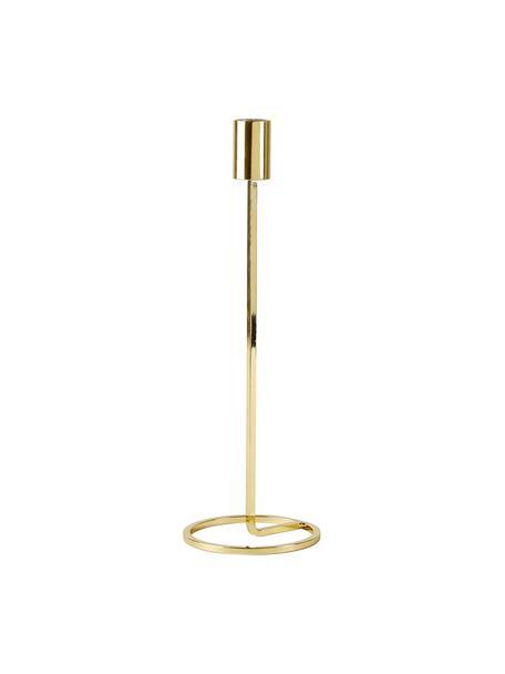 Candelabro Goldie, Metallo verniciato, Dorato, Ø 10 x A 29 cm