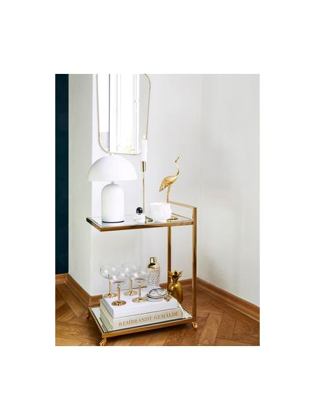 Kandelaar Goldie, Gelakt metaal, Goudkleurig, Ø 10 x H 29 cm