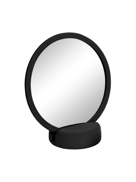 Make-up spiegel Sono met vergroting, Lijst: keramiek, Zwart, 17 x 19 cm