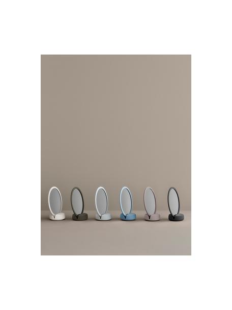 Kosmetikspiegel Sono mit Vergrößerung, Spiegelfläche: Spiegelglas, Rahmen: Keramik, Schwarz, 17 x 19 cm