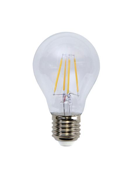 E27 peertje, 4 watt, dimbaar, warmwit, 3 stuks, Peertje: glas, Fitting: aluminium, Transparant, Ø 6 x H 11 cm