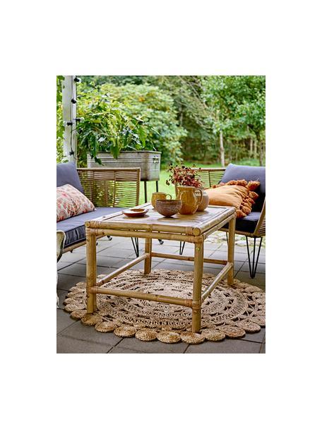 Fotel ogrodowy ze splotu z tworzywa sztucznego Mundo, Stelaż: metal malowany proszkowo, Tapicerka: poliester Dzięki tkaninie, Brązowy, S 87 x G 74 cm
