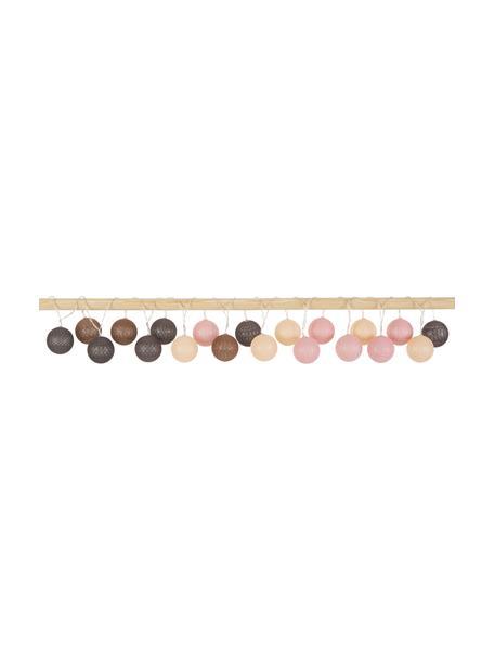Guirnalda de luces LED Bellin, 320cm, 20 luces, Cable: plástico, Marrón, beige, negro, rosa, L 320 cm