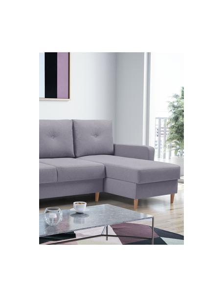 Sofa narożna z funkcją spania i miejscem do przechowywani Vinci (4-osobowa), Tapicerka: 100% poliester, Szary, S 231 x G 146 cm