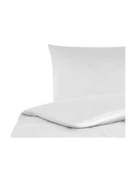 Funda nórdica de satén Comfort, Gris claro, Cama 90 cm (150 x 200 cm)