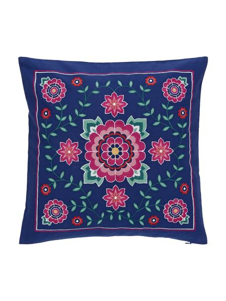 Poszewka na poduszkę z haftowanym motywem  Lore, 100% bawełna, Wielobarwny, S 45 x D 45 cm