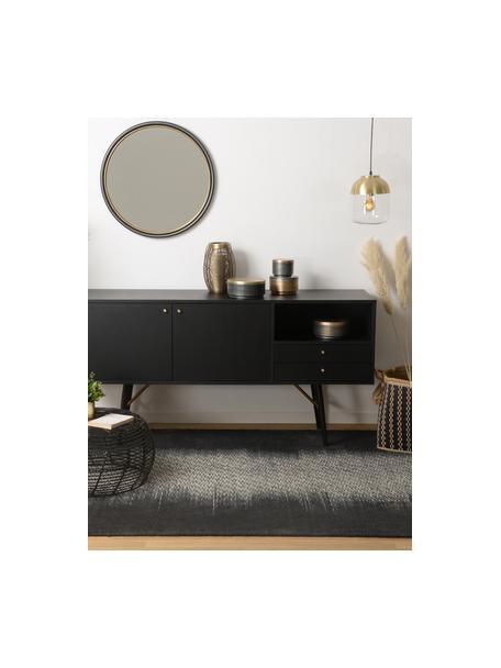 Aparador Verona, Estructura: tablero de fibras de dens, Patas: metal, con pintura en pol, Negro, latón, An 160 x Al 45 cm