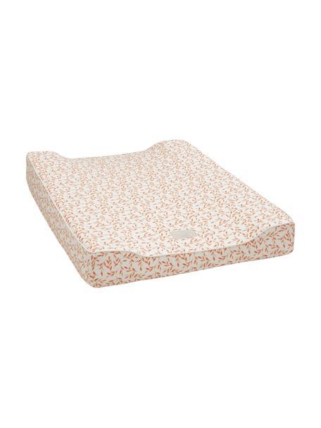 Przewijak z bawełny organicznej Leaves, Tapicerka: 100% bawełna organiczna, , Odcienie kremowego, pomarańczowy, S 50 x D 65 cm