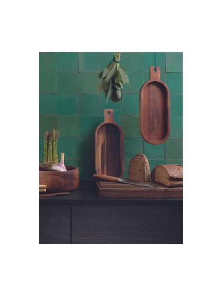 Tagliere per pane in legno di acacia Wood Light, 43x23, Legno di acacia, Marrone, Lung. 43 x Larg. 23 cm