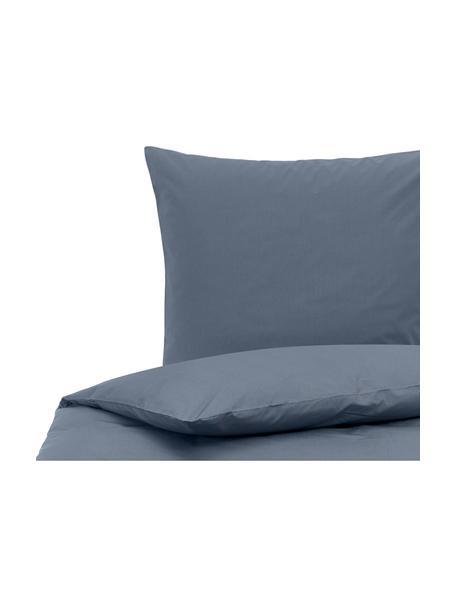 Pościel z perkalu Elsie, Niebieski, 135 x 200 cm + 1 poduszka 80 x 80 cm