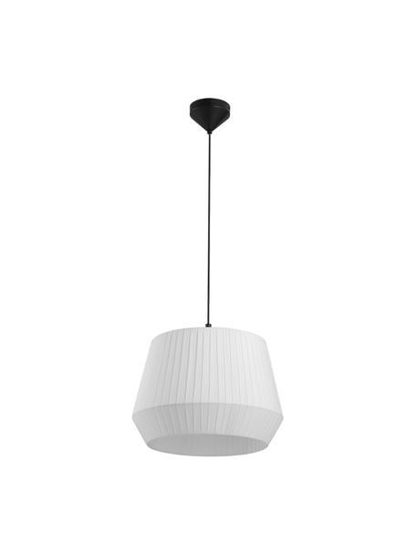 Lampada a sospensione Dicte, Paralume: tessuto, Baldacchino: metallo rivestito, Bianco, nero, Ø 40 x Alt. 34 cm