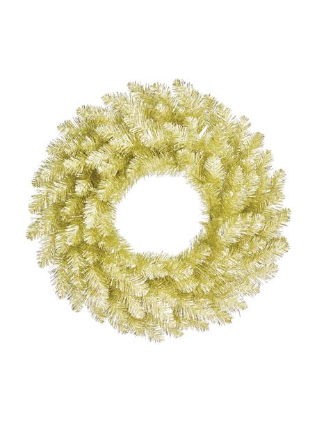 Decoratieve kerstkrans Colchester, Kunststof (PVC), Champagnekleurig, Ø 60 cm