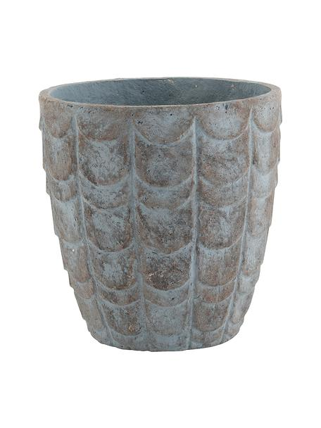 Maceta Scales, Gris cemento, Azul, gris, Ø 32 x Al 33 cm