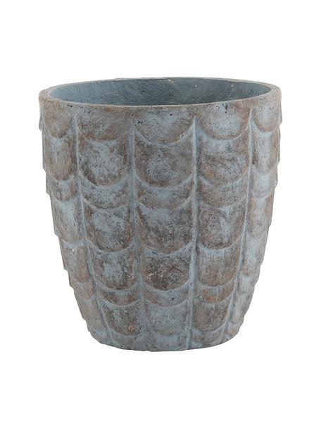 Portavaso Scales, Cemento, Blu, grigio, Ø 32 x Alt. 33 cm