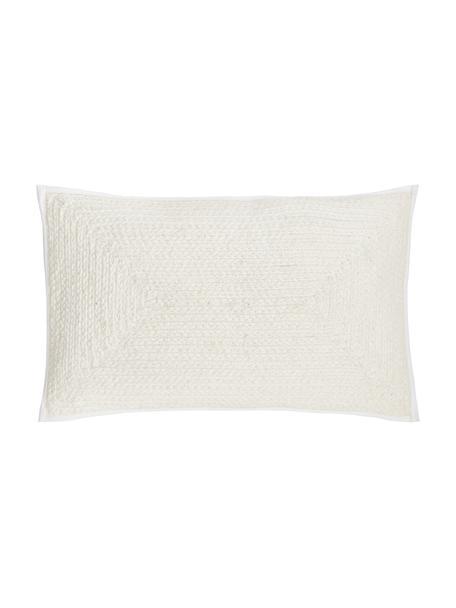 Poszewka na poduszkę Justina, 100% bawełna, Kremowobiały, S 30 x D 50 cm