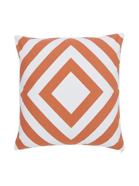 Poszewka na poduszkę Sera, 100% bawełna, Biały, pomarańczowy, S 45 x D 45 cm