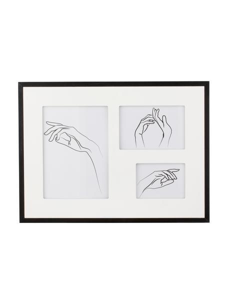 Fotolijstje Austin Hands, Lijst: gecoat MDF, Zwart, Set met verschillende formaten