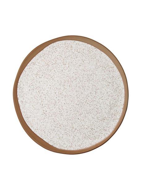 Ontbijtborden Caja mat in bruin- en beigetinten, 2 stuks, Klei, Bruin- en beigetinten, Ø 21 cm