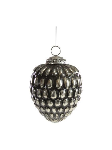 Baumanhänger Glam H 11 cm, Schwarz, Goldfarben, Ø 5 x H 11 cm