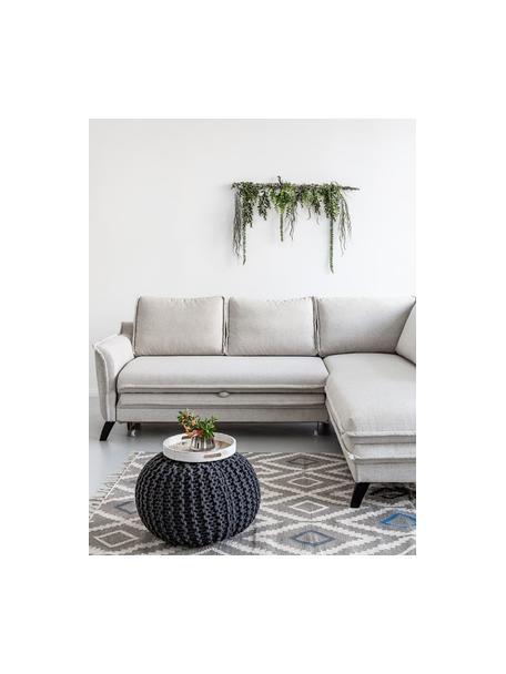 Sofá cama rinconero Charming Charlie, Tapizado: 100%poliéster tacto de l, Estructura: madera, aglomerado, Beige, An 230 x F 200 cm