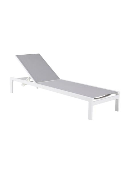 Leżak ogrodowy z aluminium Copacabana, Stelaż: aluminium lakierowane, Biały, D 195 x S 60 cm